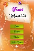 Screenshot of Fruits Memory Games