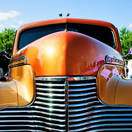 Orange Chevy by Jacqueline Manning - Transportation Automobiles ( orange, classic car, orange car, chevrolet, 1940 )