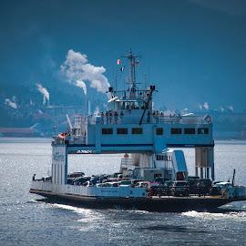 Chemainus Ferry Crossing by Gary Hanson - Transportation Boats ( crossing, canada, ferry, chemainus, vancouver, island,  )