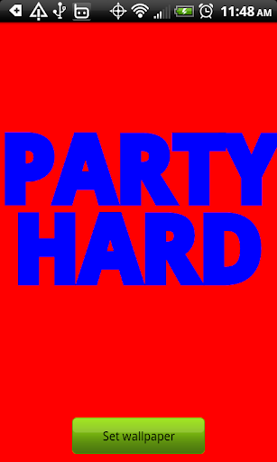 Party Hard Wallpaper