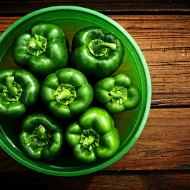 Green Peppers by Robert Daveant - Food & Drink Fruits & Vegetables