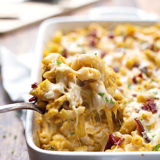 Chicken Bacon Pumpkin Pasta Bake