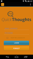 Screenshot of QuickThoughts