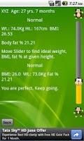 Screenshot of BMI n Fat Calculator