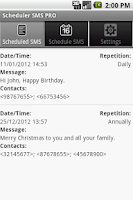 Screenshot of Scheduler SMS PRO