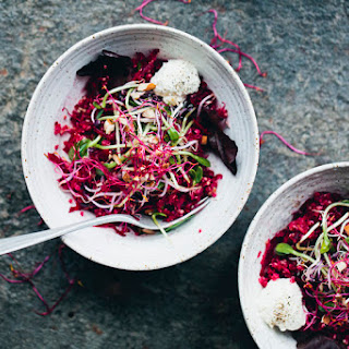 Beet, Apple, Quinoa & Sprout Salad