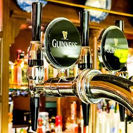 Beer tap by Vaibhav Jain - Food & Drink Alcohol & Drinks ( beer tap, guinness, beer, restaurent, ar, table, tap, filler, bar )