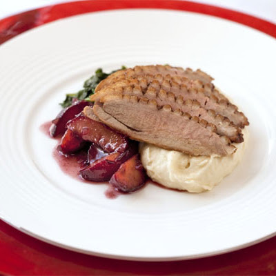 Roasted Duck Breast With Plum Sauce