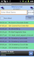 Screenshot of my Diet Journal