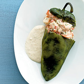 Cheese and Shrimp-Stuffed Poblanos