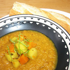 Curried Parsnip & Sweet Potato Soup