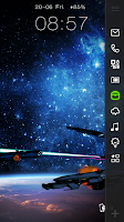 Screenshot of Space Warship Live LockerTheme