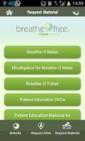 Screenshot of Breathefree App