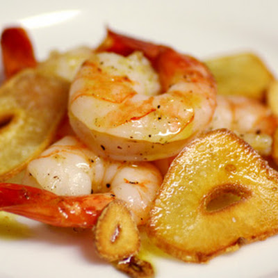 Garlic Roasted Shrimp with Red Chile Oil