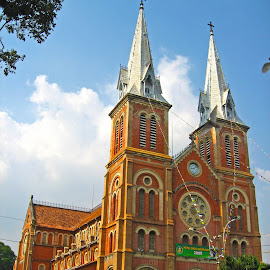 Cathedral by Vince See - Buildings & Architecture Places of Worship ( catholic, church, vietnam, cathedral, classic )