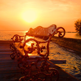 Sunset in Bulat Island by Rudi Rachmat - Artistic Objects Furniture ( color, silhouette, colors, filter forge, object, beach, landscape, portrait,  )