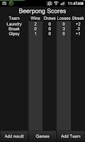 Screenshot of Beerpong Scores