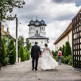 The day by Camelia Cami - Wedding Bride & Groom ( wood, church, wedding, gates, bride, groom )