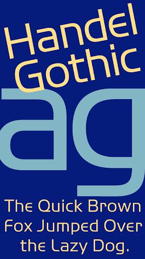 Handel Gothic FlipFont