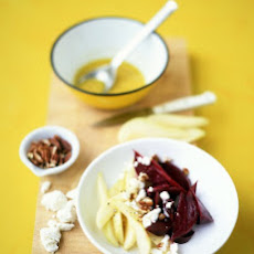Beet, Pear, and Goat-Cheese Salad
