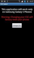 Screenshot of Samsung Galaxy S / S2 / S3 CSC