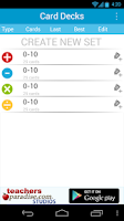 Screenshot of Math Practice Flash Cards