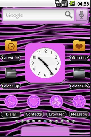 Neon Pink Zebra Theme