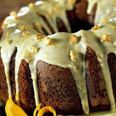 Pumpkin Cake with Orange Glaze