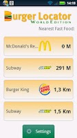 Screenshot of Burger Locator World Edition