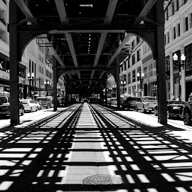Underneath  by Aron Finn - City,  Street & Park  Street Scenes