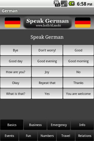 玩免費教育APP|下載Speak German app不用錢|硬是要APP