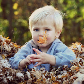 by Chandra Whitfield - Babies & Children Children Candids ( nature, autumn, fall, leaf, leaves, photography,  )