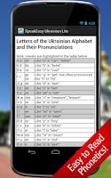 Screenshot of SpeakEasy Ukrainian LT Phrases