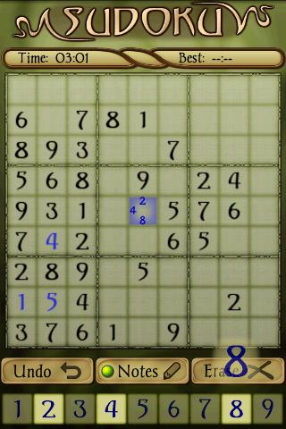 sudoku-free for android screenshot