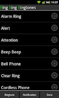 Screenshot of Ring Ring Ringtones