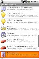 Screenshot of gUnit - Unit Converter - Lite