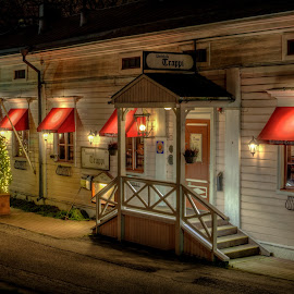 Night Bar Trappi by Bojan Bilas - Buildings & Architecture Other Exteriors ( naantali, neighborhood, finland, long exposure, night, city )