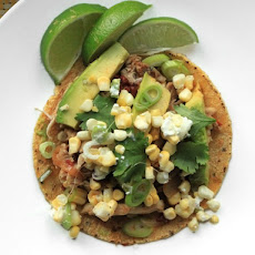 Spicy Chicken Tacos With Corn, Feta, and Avocado
