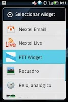 Screenshot of PTT Widget