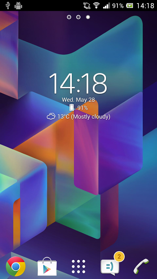 Digital Clock Widget Xperia Screenshot 0