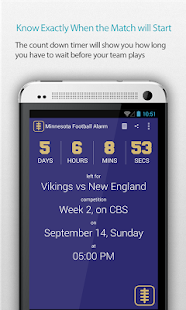 Minnesota Football Alarm Pro - screenshot