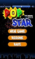 Screenshot of Pop Star for Android
