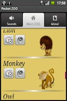 Screenshot of Animals soundboard