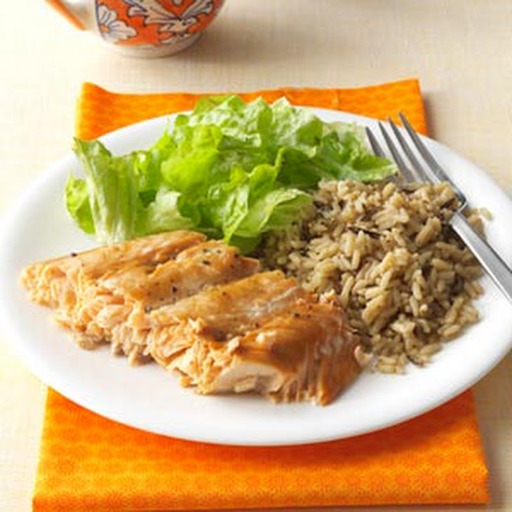 Salmon with Brown Sugar Glaze Recept | Yummly