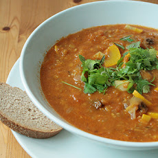 Curried Lentil Soup with Carrots