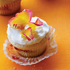 Strawberry-Rose Cupcakes