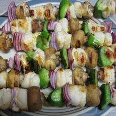 Garlic Scallop Kebabs