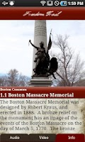 Screenshot of Tour Boston's Freedom Trail