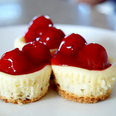 Mini Cherry Cheesecakes with Vanilla Wafer Crusts