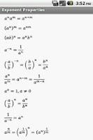 Screenshot of Algebra Formulas
